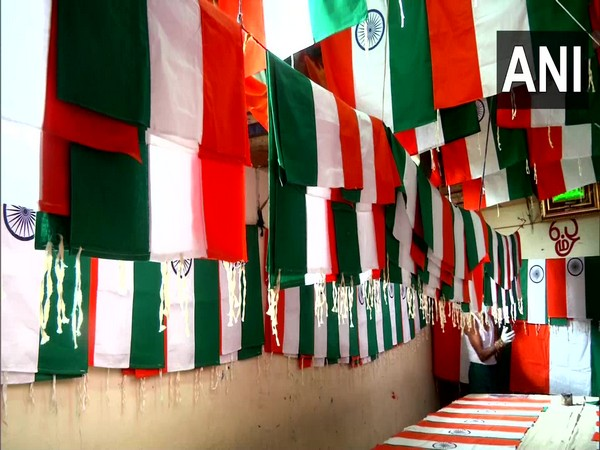 Flags being made at Coimbatore (Photo/ANI)