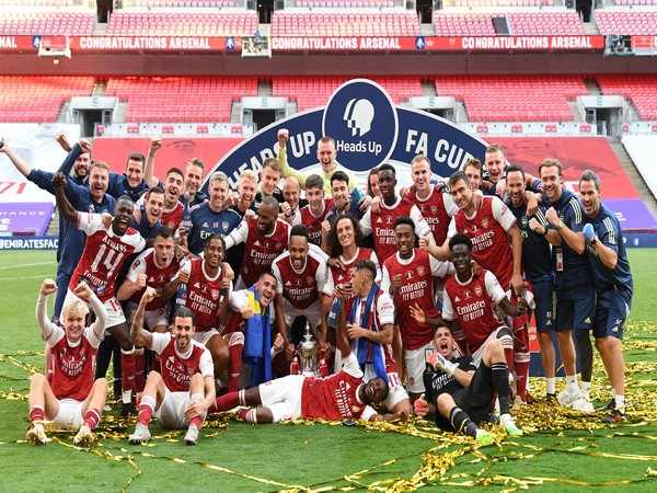 Arsenal secured a 2-1 win over Chelsea in the FA Cup final (Photo/ Arsenal Twitter)