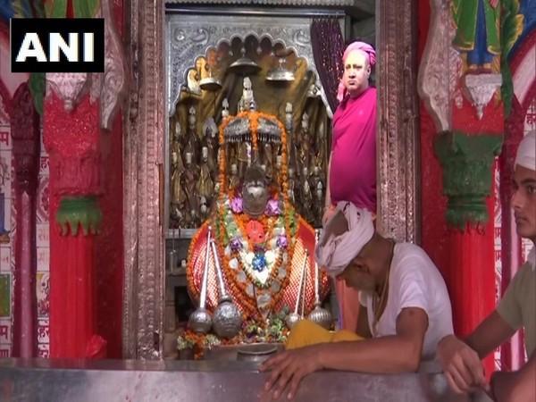 Mahant Raju Das, the head priest of Hanumangarhi temple.  (Photo/ANI)