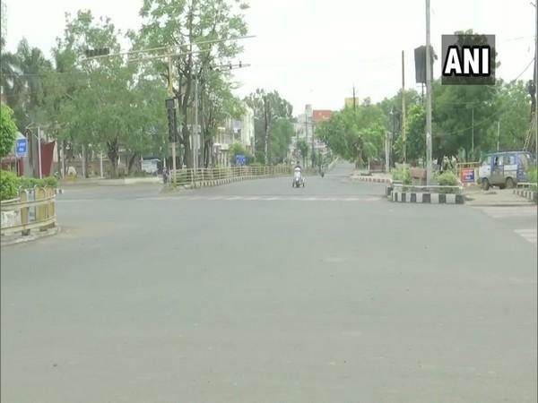 A street in Bhopal wears a deserted look