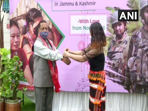 Women from the northeastern states tied rakhi to jawans from Armed/Paramilitary forces whose Battalions or Companies are deployed in Jammu And Kashmir & Ladakh.