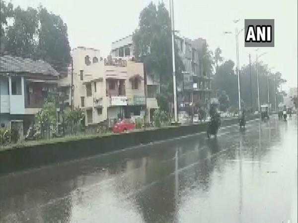 Rain lashes parts of Belagavi district in Karnataka on Tuesday [Photo/ANI]