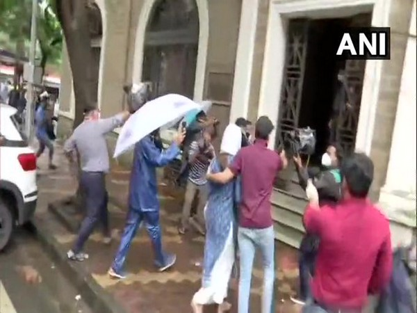 Actress Rhea Chakraborty on Friday arrived at Enforcement Directorate office in Mumbai (Photo/ANI)
