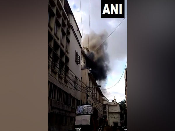 Fire breaks out at a building on Pollock Street in Kolkata (Photo/ANI)