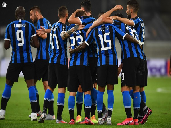 Inter Milan players during their clash against Bayer Leverkusen (Photo/ Inter Milan Twitter)