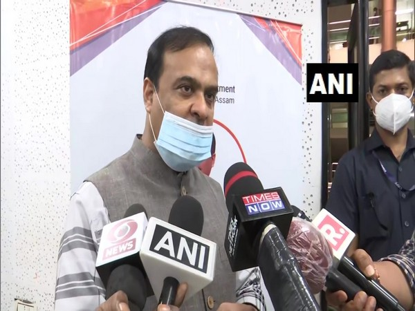 Assam Minister Himanta Biswa Sarma speaking to media reporters on Wednesday. Photo/ANI