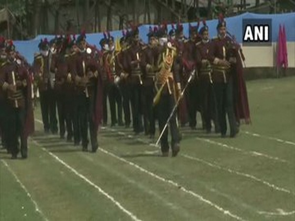 Full dress rehearsal for Independence Day celebrations being held at Sher-i-Kashmir Stadium in Srinagar [Photo/ANI]