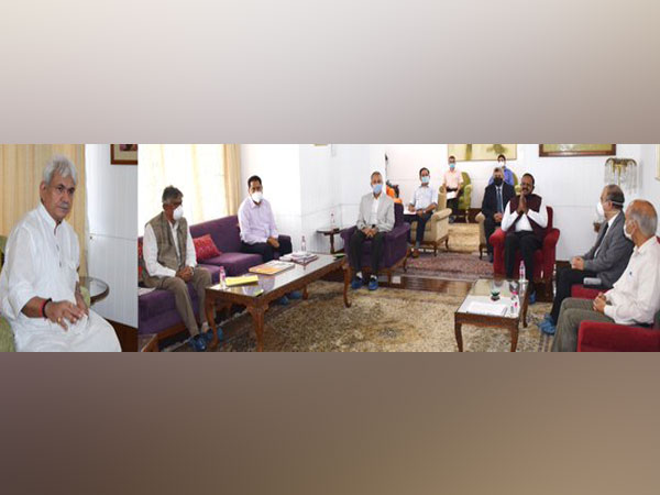 Jammu and Kashmir Lieutenant Governor, Manoj Sinha interacting with VCs of universities