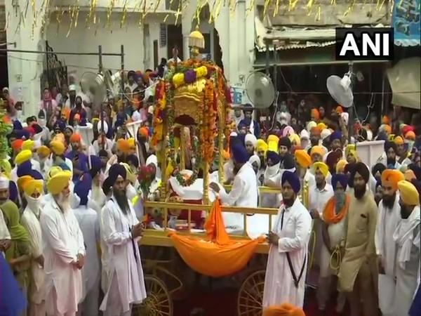 'Nagar kirtan' leaves from Ramsar Sahib to Harmandir Sahib in Amritsar today.