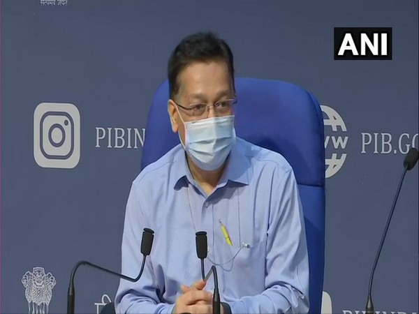 Union Health Secretary Rajesh Bhushan speaking to reporters in New Delhi on Thursday. [Photo/ANI]