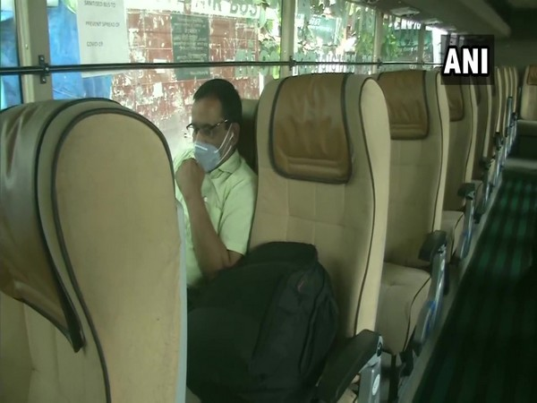 Each passenger is seated on a double seat to maintain social distancing. (Photo/ANI)