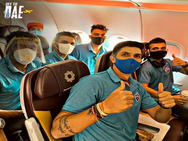 Delhi Capitals' players depart for UAE (Photo/ Delhi Capitals Twitter)