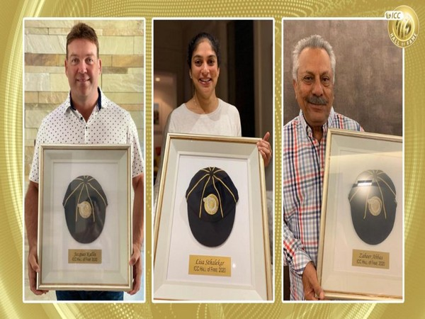 Jacques Kallis, Lisa Sthalekar and Zaheer Abbas (Photo/ ICC Twitter)