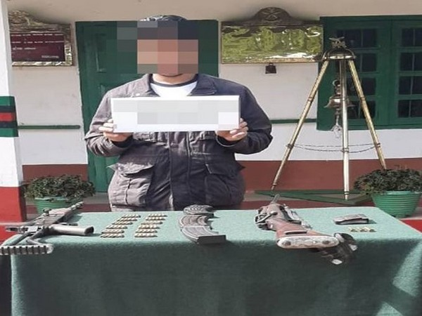 Security forces apprehended an arms dealer near Kholeboto in Zunheboto District of Nagaland on Saturday (Photo/Eastern Command on Twitter)