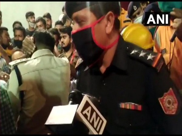 National Disaster Response Force officer speaking to media persons on Wednesday. Photo/ANI