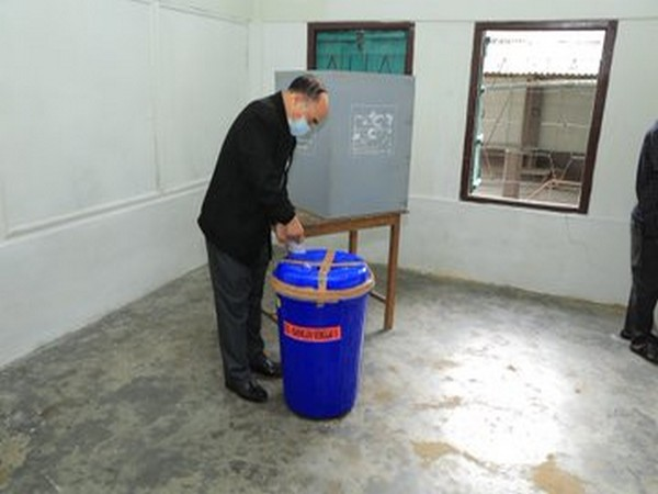 Mizoram Chief Minister Zoramthanga participated in Mizoram General Election to Village Councils and Local Councils (Photo/Twitter/Zoramthanga)
