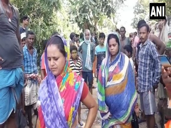 A preganant woman was rescued from the flood-affected village of Jayapur. (Photo/ANI)