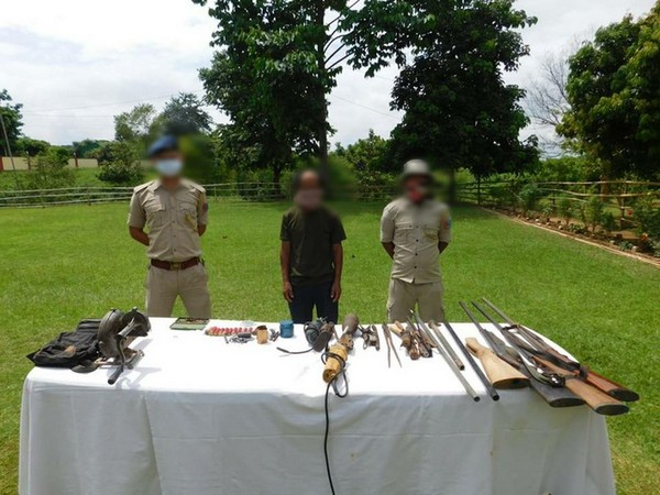 Security forces in an operation apprehended one arms dealer near Lilen village, Peren District, Nagaland