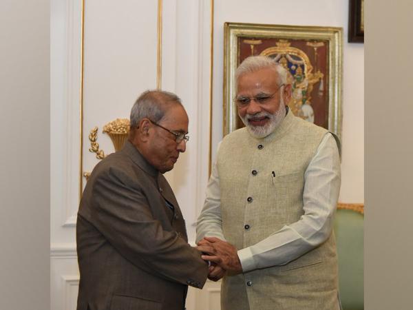 former president Pranab Mujherjee (left), Prime Minister Narendra Modi (right) (Photo/Twitter/Narendra Modi)