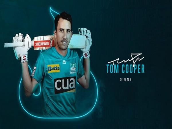 Brisbane Heat sign Tom Cooper (Photo/ Brisbane Heat Twitter)