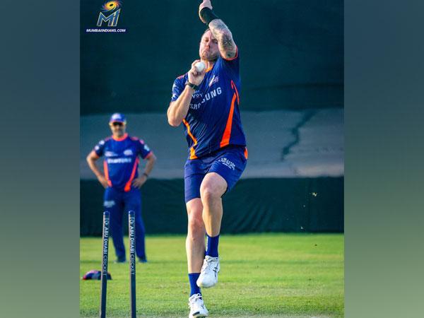 Mumbai Indians pacer James Pattinson. (Photo/ Mumbai Indians Twitter)