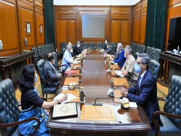 EAM S Jaishankar held meeting with Zalmay Khalilzad, US Special Representative for Afghanistan Reconciliation, on Tuesday in Delhi. (Photo credit: S Jaishankar Twitter)