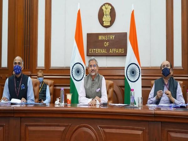 External Affairs Minister S Jaishankar during the virtual meeting of BRICS Foreign Ministers on Friday. (Photo credits: S Jaishankar Twitter)