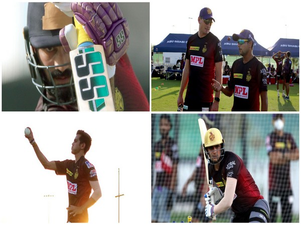 KKR players during their training session on Saturday (Photo/ IPL Twitter)