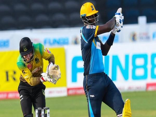 Barbados Tridents' skipper Jason Holder in action against Jamaica Tallawahs. (Photo/ CPL Twitter)