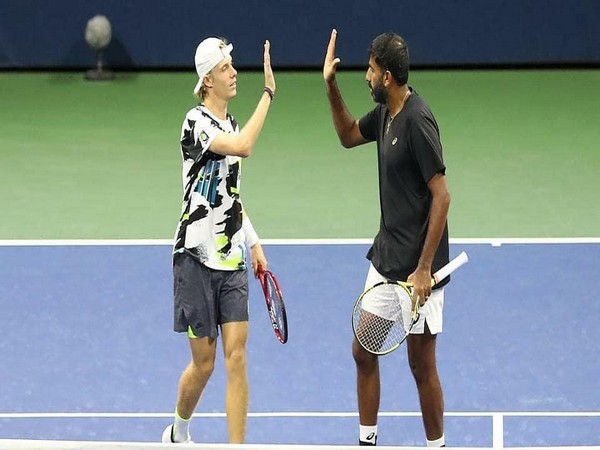 Denis Shapovalov and Rohan Bopanna. (Photo/ SAIMedia Twitter)