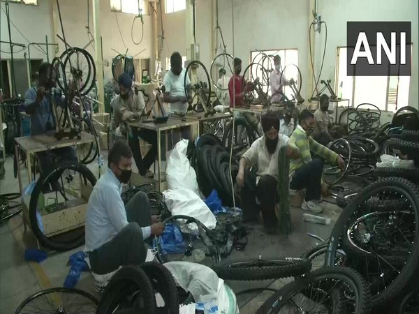 Cycle industry of Ludhiana unable to meet demand due to shortage of labour. (Photo/ANI)