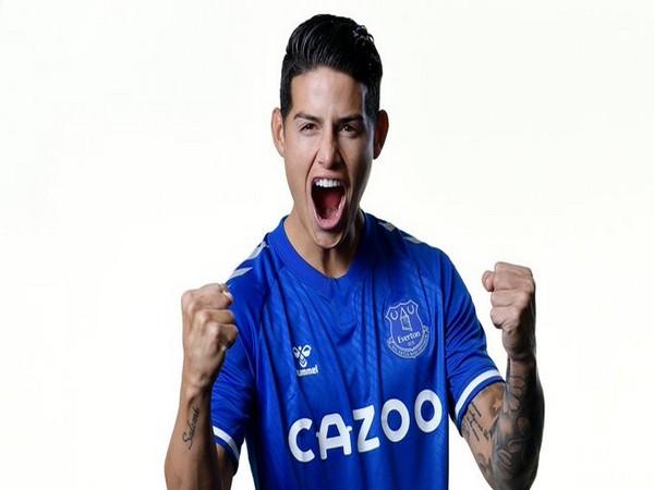 Everton newest signee James Rodriguez (Photo/ Everton FC Twitter)
