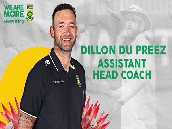 Dillon du Preez, new assistant coach of South Africa women's team (Photo/ CSA Twitter)