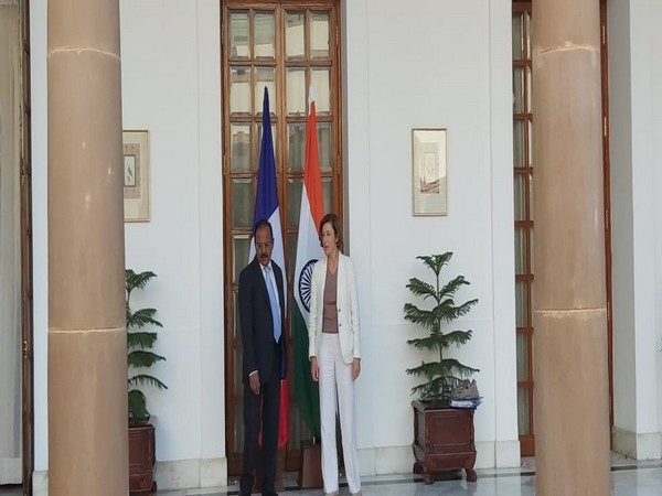 National Security Advisor (NSA) Ajit Doval and French Defence Minister Florence Parly
