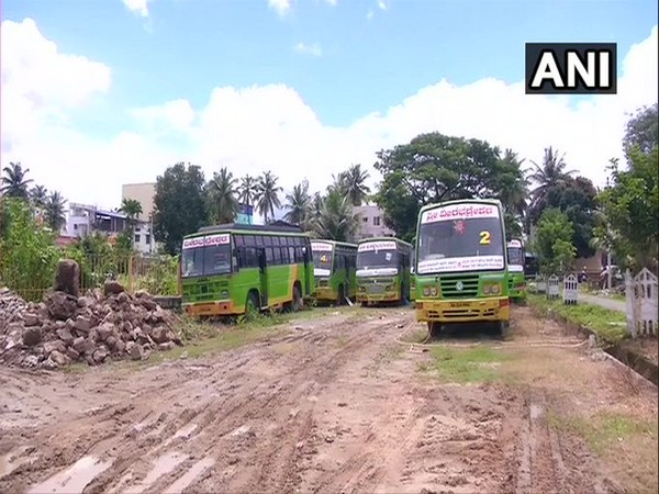 Private bus operators in Shivamogga have sought relief from the state government (Photo/ANI)