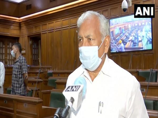 Delhi Assembly Speaker Ram Niwas Goel speaking to ANI in New Delhi on Friday. [Photo/ANI]