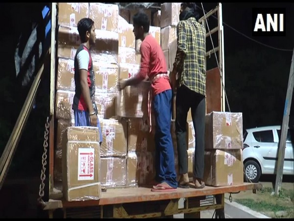 290 crates of alcohol were seized in Ambala. (Photo/ANI)
