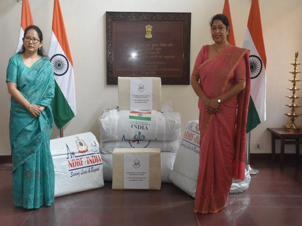 The consignment was handed over by India's deputy envoy in Nepal, Namgya Khampa, to Chanda Chaudhary, Member of Parliament and President of the Nepal-India Women Friendship Society