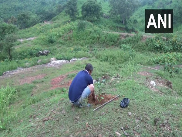 Gaya-based man has planted around 1 lakh saplings since 1982 at Brahmyoni hill. [Photo/ANI]