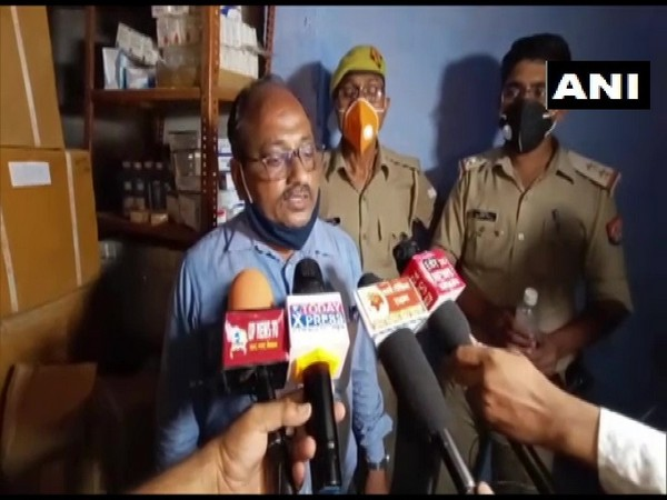 Drug Inspector Govind Lal Gupta informed that illegal and counterfeit drugs worth Rs 1.5 crores was seized in Prayagraj on Sunday. [Photo/ANI]