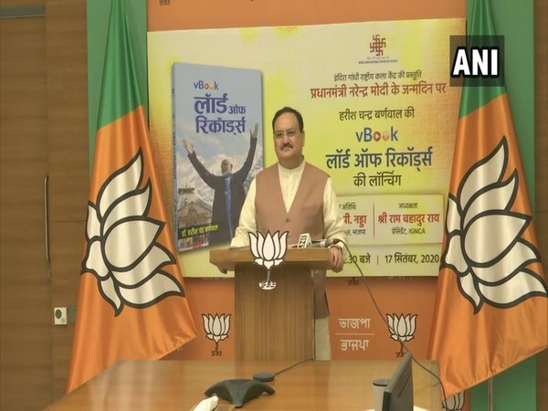 BJP national president JP Nadda at the book launch event (Photo/ANI)