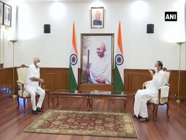 Karnataka Chief Minister BS Yediyurappa meets Vice President Venkaiah Naidu.