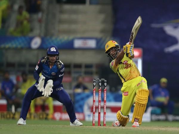 Ambati Rayudu hitting a shot during match against Mumbai Indians. (Photo/ IPL Twitter)