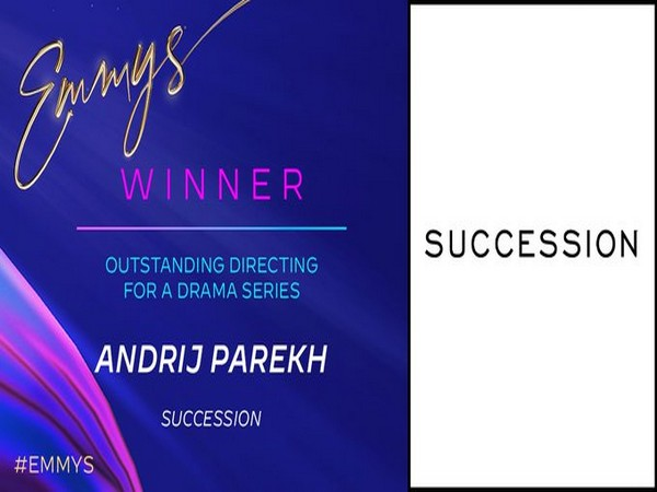 Andrij Parekh wins for 'Succession'. (Image Source: Twitter)