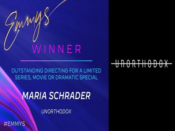 Maria Schrader wins Emmy for directing Unorthodox (Photo/ Television Academy Twitter)