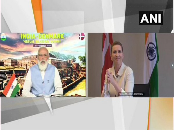 Prime Minister Narendra Modi and Danish Prime Minister Mette Frederiksen at India-Denmark virtual summit