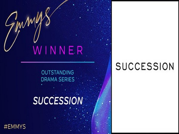 Succession wins Outstanding Drama Series (Photo/ Television Academy Twitter)