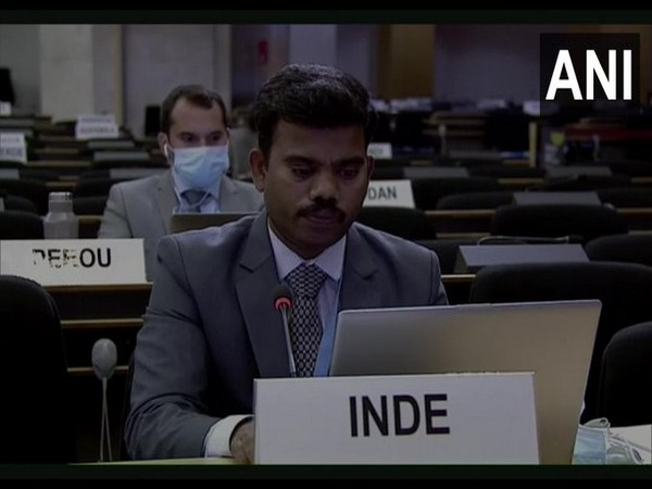 First Secretary, Permanent Mission of India, Geneva Senthil Kumar at the 45th Session of the Human Rights Council