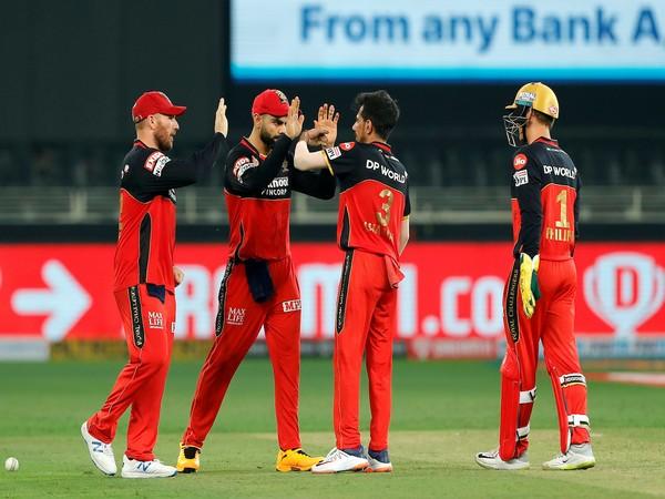 Yuzvendra Chahal celebrates after dismissing SRH batsman (Photo/ IPL Twitter)