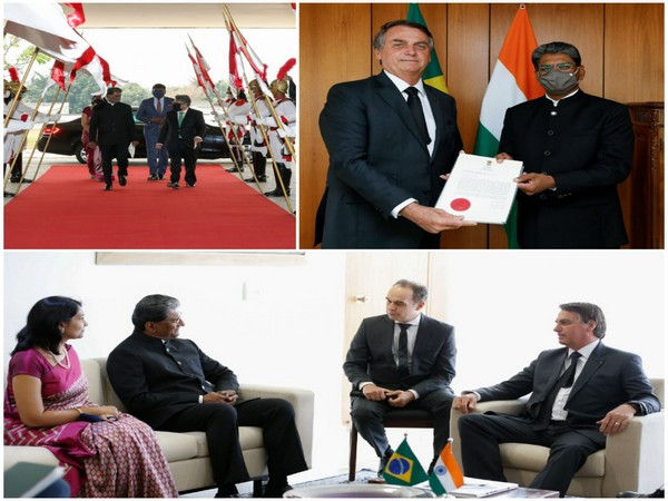 India's Ambassador to Brazil Suresh K Reddy presented his credentials to Jair M Bolsonaro on Monday. (Photo credit: India in Brazil twitter)